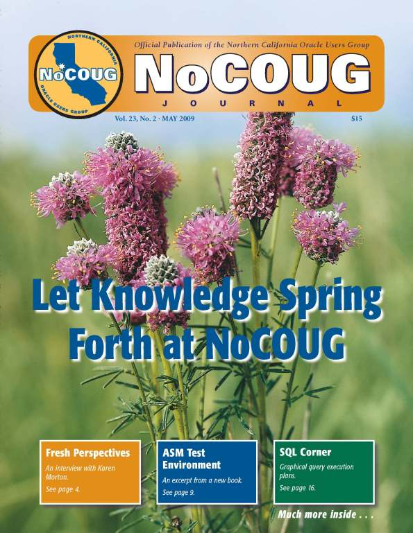 NoCOUG--Journal cover May 2009